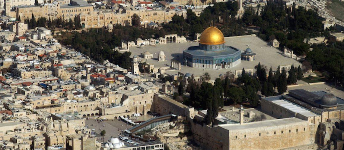 Una veduta aerea della città vecchia di Gerusalemme (MARINA PASSOS/AFP/Getty Images)